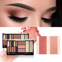 O.TWO.O New Palette Eyeshadow Highlighter Glitter Blush Contour Palette 15 Shades With Brush