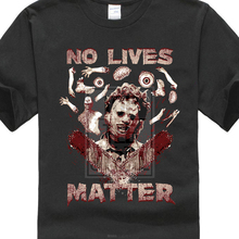 High Quality T Shirt Short No Lives Matter Leatherface Shirt, Horror Scary Movie Crew Neck Summer For Men