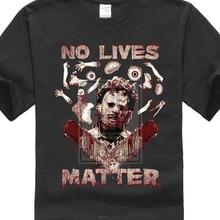 High Quality T Shirt Short No Lives Matter Leatherface T Shirt, Horror T Shirt, Scary Movie T Shirt, Crew Neck Summer For Men цена 2017