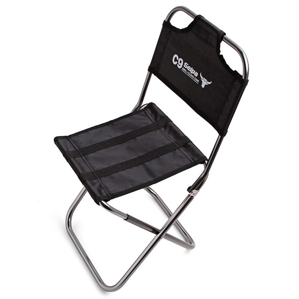 Outdoor Portable Folding Fishing Chair with Backrest