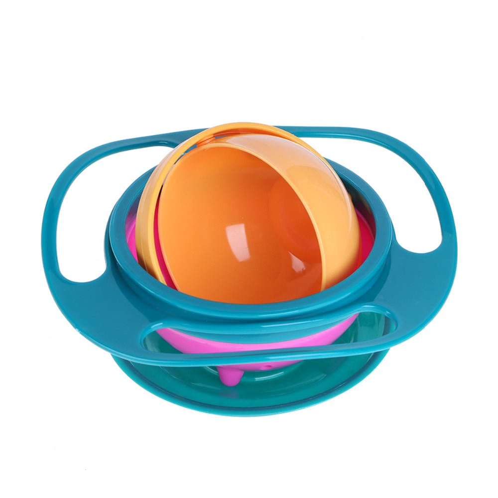 Baby Feeding Learning Dish Cute Baby Gyro Bowl 360 Rotate Spill-Proof Bowls Food-grade PP Balance Bowl Children's Baby Tableware