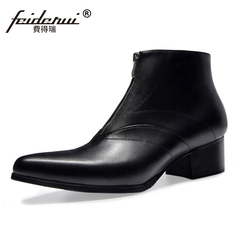 New Arrival Formal Dress Man Handmade  Riding Shoes Genuine Leather Pointed Toe Med Heels Cowboy Mens Ankle Boots SS25New Arrival Formal Dress Man Handmade  Riding Shoes Genuine Leather Pointed Toe Med Heels Cowboy Mens Ankle Boots SS25