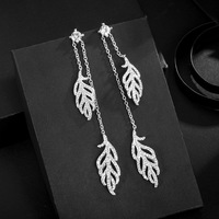 2019 New Fashion Jewelry Crystal from Swarovski Personality temperament long jewelry wholesale Fit Women and female For Wedding