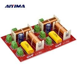 Aiyima 2 pçs 200 w 3 vias de áudio alto-falante crossover agudos + midrange + graves independente crossover alto-falantes filtro divisor freqüência