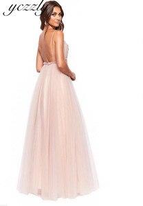 Image 4 - Vestido Noiva 2020 סקסי ספגטי רצועות ללא משענת פרחי חוף חתונת שמלה ארוך קריסטל Boho חתונה שמלות רצפת אורך W30