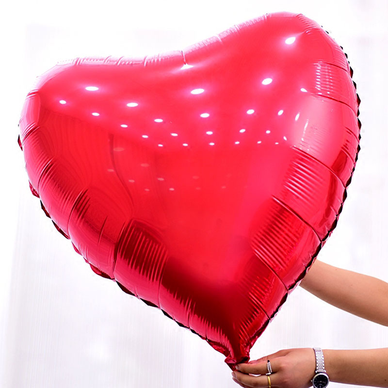 Fashion 1PC Hot 32inch Super Big Heart Shape Aluminum Foil Balloons Wedding Bride Decoration Happy Birthday Supplies Party Decor