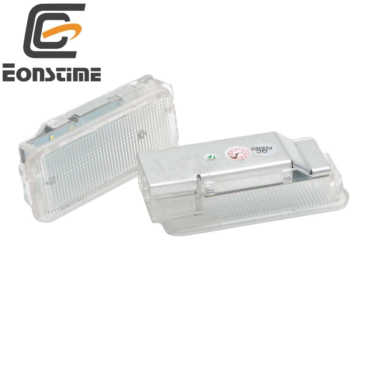 Eonstime 2Pcs 18SMD LED luggage lights car compartment Interior light Lamp For Peugeot 1007 206 207 306 307 3008 406 407 5008