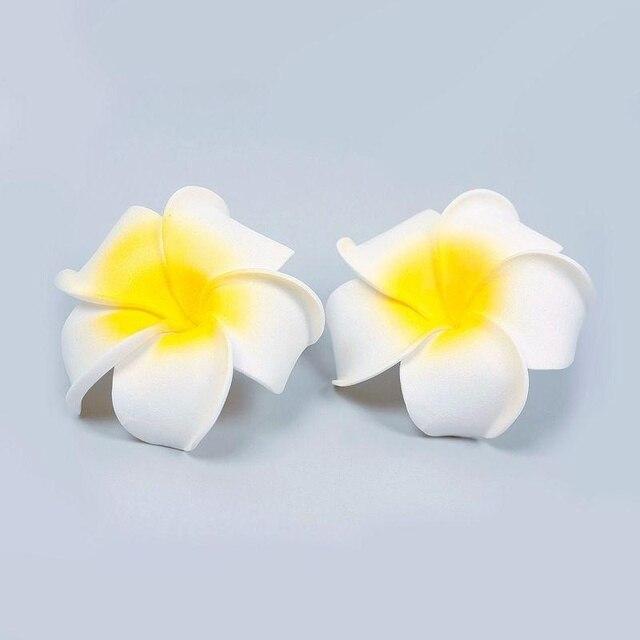 2 stücke Hawaii schaum Blume Braut Hochzeit Haar Clip Weiße Plumeria ...