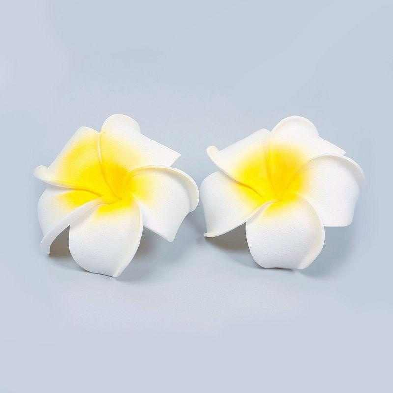 Новое прибытие 2 шт Гавайская Пена цветок Свадебная заколка для волос Белый Плюмерия (Размер: 2) Аксессуары для волос для девочек