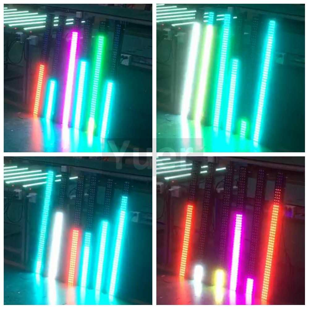 8Pcs/Lot NEW stage light RGB 3IN1 Led Wall Wash Light DMX Led Bar DMX Line  Bar Wash Stage Light For Dj Indoor horse race lamp