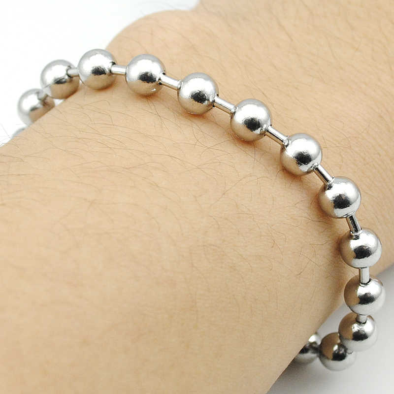 Cheap Jewelry ! Ball Beads Pure Stainless steel Bracelet Silver Color Fashion Men Women Jewellery 6mm Hot Sale HB734