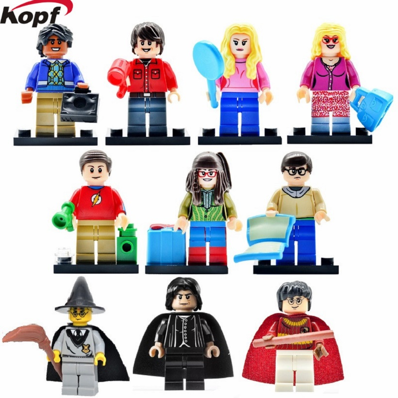Super Heroes Big Bang Theory Harry Potter Star Wars Ron Weasley Lord Voldemort Building Blocks Eductaion Toys for children Gift