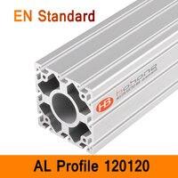 120120 алюминиевый профиль EN стандартный DIY кронштейны алюминиевый AL экструзионный ЧПУ 3D DIY принтер рама Тяжелая алюминиевая рама T слот