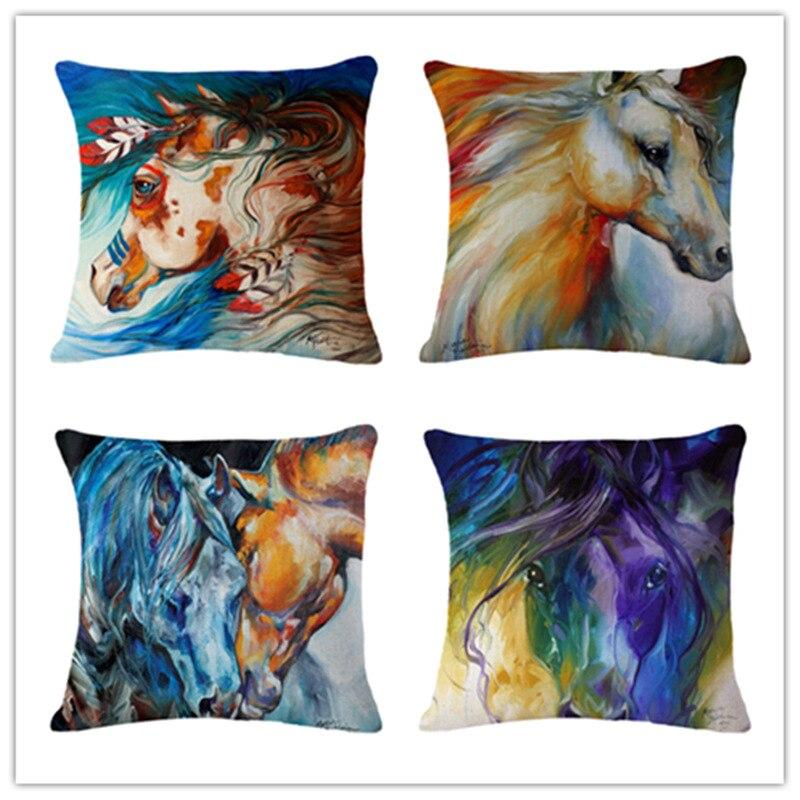 Cushion Cover Animal Cotton Linen Felicity Cushion Sofa Decorative Pillow Cover
