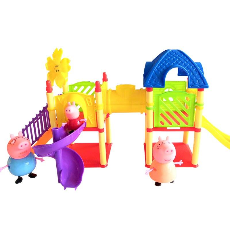 어린이 척 장난감 고품질 pvc 탄력 성 peppa 돼지 장난감 소녀 장난감 어린이 크리스마스 선물