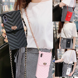 Image 2 - Silicone Wallet bag for Credit Cards Phone Case Cover Crossbody chain for iphone 12 11 Pro max case XR XS MAX X 6S 8 7 plus case