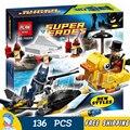 136 unids bela 10225 dc comics batman penguin face off set modelo de bloques de construcción ladrillos juguetes compatibles con lego