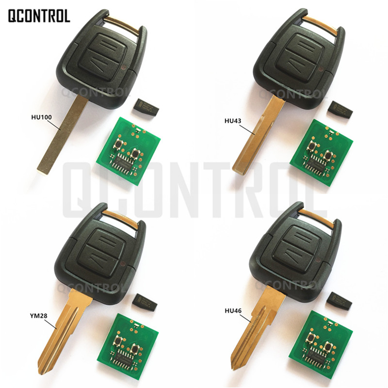 QCONTROL Remote Key for OPEL/VAUXHALL Car Vehicle Vectra Zafira Omega Astra CE0682 433.92MHz with ID40 Chip