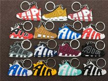 Hot Cute Mini AIR Keychain Bag Charm Woman Men Kids Key Ring Gifts Sneaker Key Holder Pendant Accessories Jordan Shoes Key Chain(China)