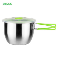 FDA Double Wall Stainless Steel Bowl for Salad Vegetables Mixing Bowls Food Container with Lid Tablewares