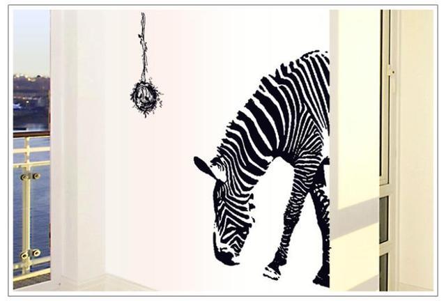 Vogels nest schets zwart zebra paard dier jongen kamer decoratie