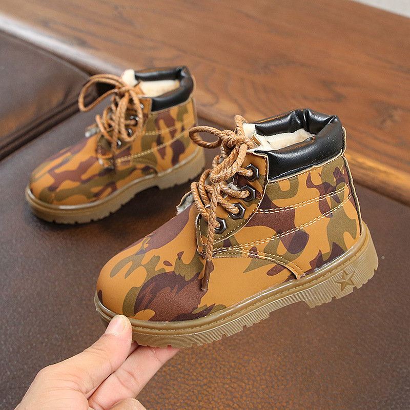 Davidyue Winter Kids Boots Girls Baby Children Kids Shoes  Winter Boots For Boys Girls Snow Fur Army Boot For Baby Shoe