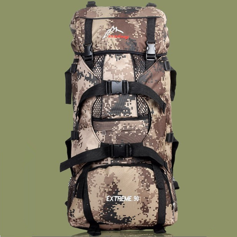 Wholesale Outdoor 70L Large Capacity Mountaineering Bag Male Camouflage Backpack Travel Backpack Army Camping Hiking Bag