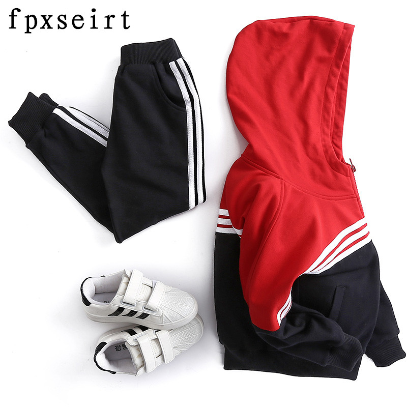 6 children's clothing male child spring set 2017 7 spring and autumn baby 8 children sports 100% cotton twinset 5 - 9 a975got tbd b