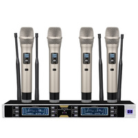 Professional wireless microphone UHF four channel wireless microphone classroom / karaoke / home KTV microphone