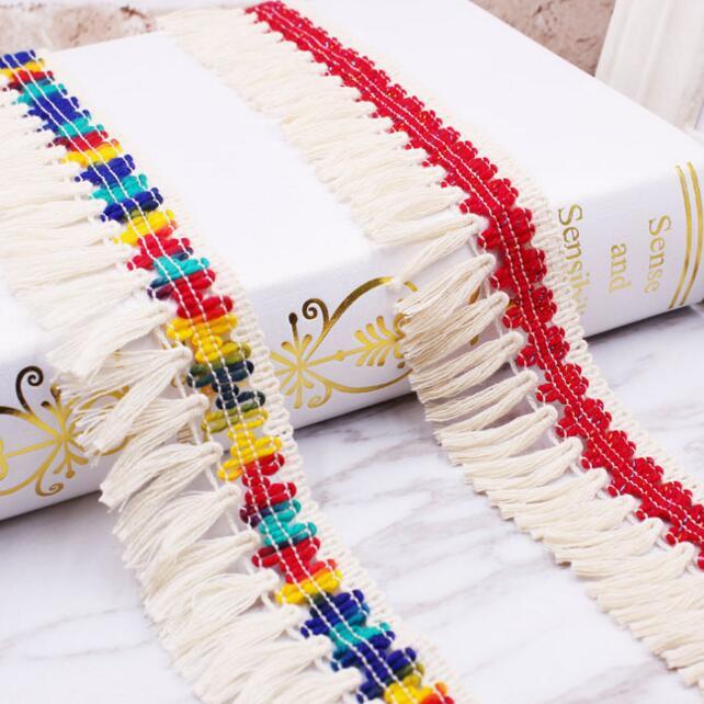 50yards Cotton Fabric Tassel Lace Ribbon Fringe Lace Trims