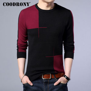 Image 2 - COODRONY 2018 New Autumn Winter Thick Warm Cashmere Sweater Men Casual O Neck Pull Homme Brand Pullovers Mens Wool Sweaters 7185
