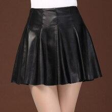 Women A-line Umbrella Skirt Pleated Skirt a line lemon pattern pleated skirt