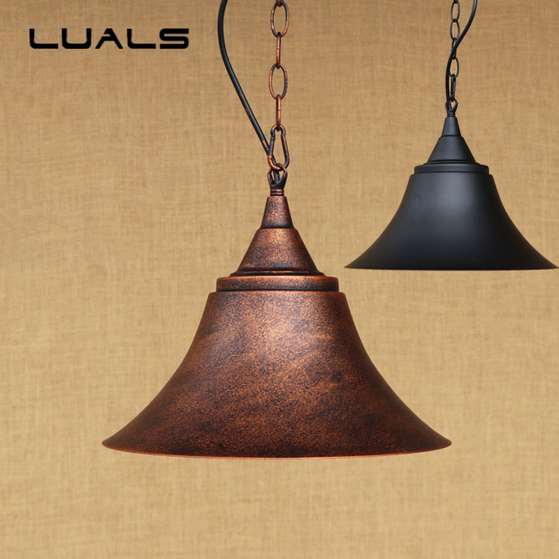 2 pcs Loft Retro Light Rusty Color Hanging Lamp Cafe Bar Pendant Lights Creative Edison Lamps Industrial Style Pendant Lighting vintage edison chandelier rusty lampshade american industrial retro iron pendant lights cafe bar clothing store ceiling lamp
