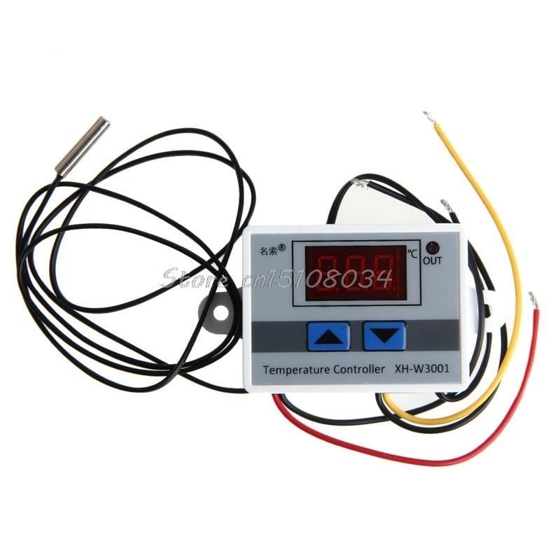 220 V Cyfrowy regulator temperatury LED 10A Termostat Przełącznik - Przyrządy pomiarowe - Zdjęcie 5
