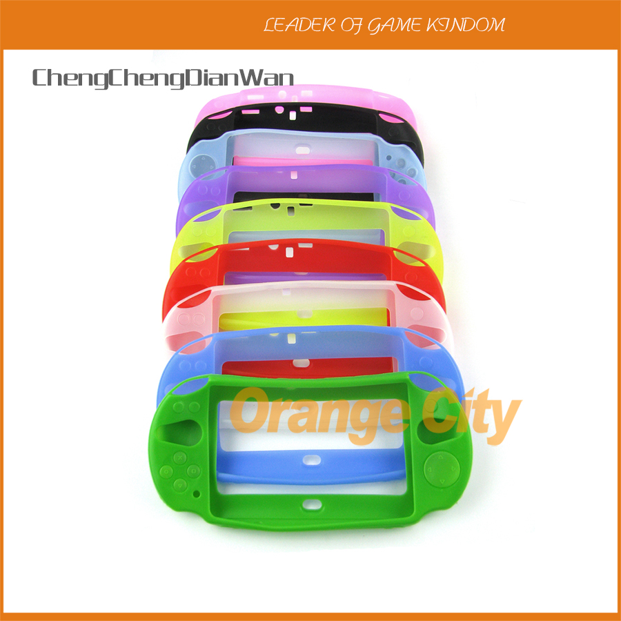 ChengChengDianWan For <font><b>Sony</b></font> Psv2000 Psvita2000 <font><b>PS</b></font> <font><b>Vita</b></font> Psv 2000 Soft Rubber Protective Silicone Case Skin Case Shell Controller image