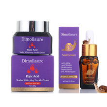 Dimollaure Kojic acid Whitening Cream snail Hyaluronic Acid Argireline peptidesant face serum Reduces Freckles Melasma dark spot цена
