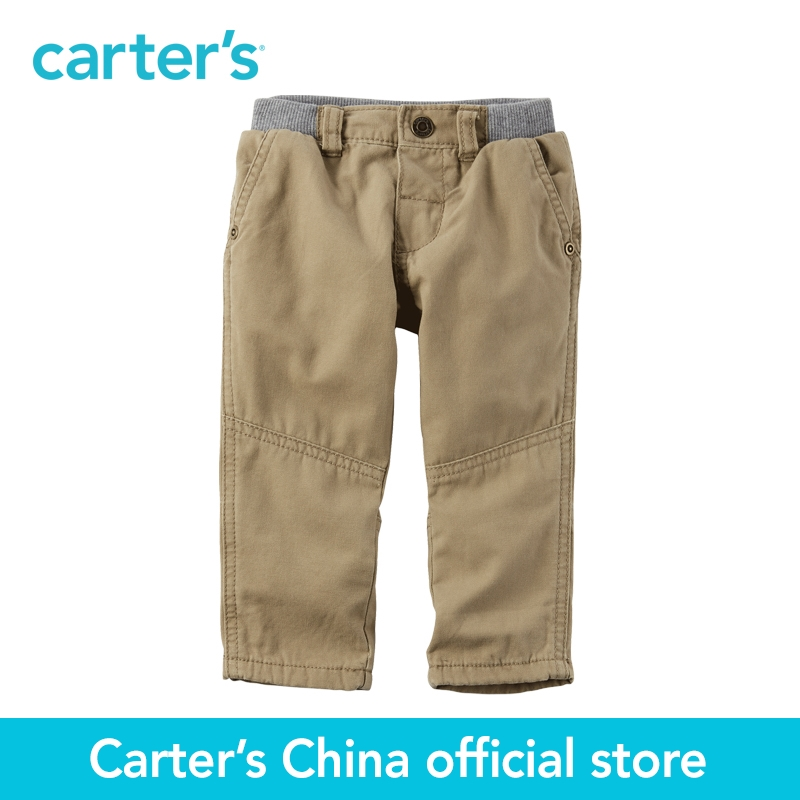 Carter s 1pcs baby children kids Jersey Lined Canvas Pants 224G269 sold by Carter s China