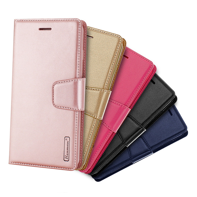 10Pcs Hanman Sheepskin Leather Case For Google Pixel 3 XL Flip Book Card Holder Stand Wallet Cases With Card Slot