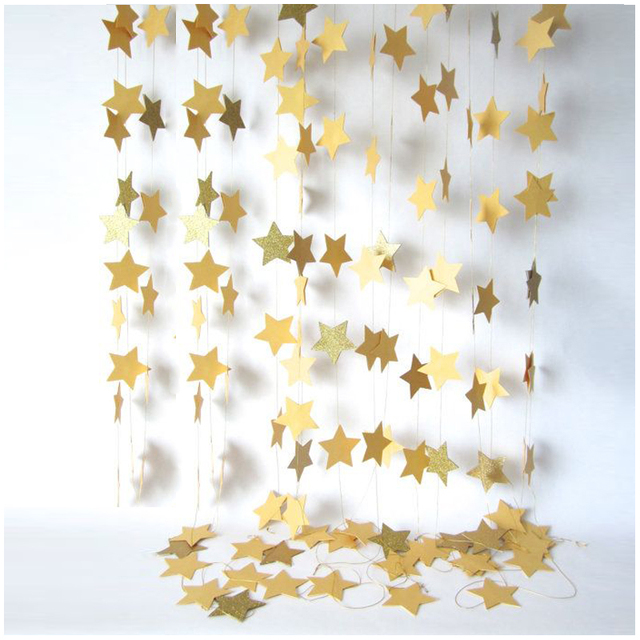 Fashion Star Wall Hanging Paper for Birthday and Wedding Parties