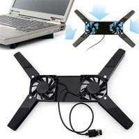 עבור מחשב נייד מחשב נייד Portable Stand Dual קירור מחברת מאוורר עומד עבור מחשב מתקפלת שולחן כתיבה מחשב נייד Macbook קירור מחזיק USB Rack Bracket (1)