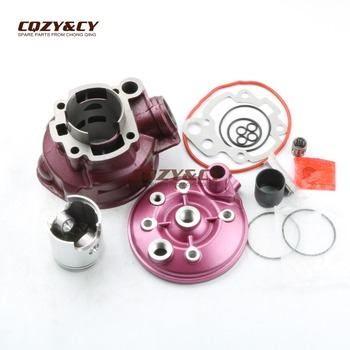 49mm / 12mm 90cc Big Bore Cylinder Kit & Cylinder Head Cap for CH-MOTO WSM WXE Racing 50 2T