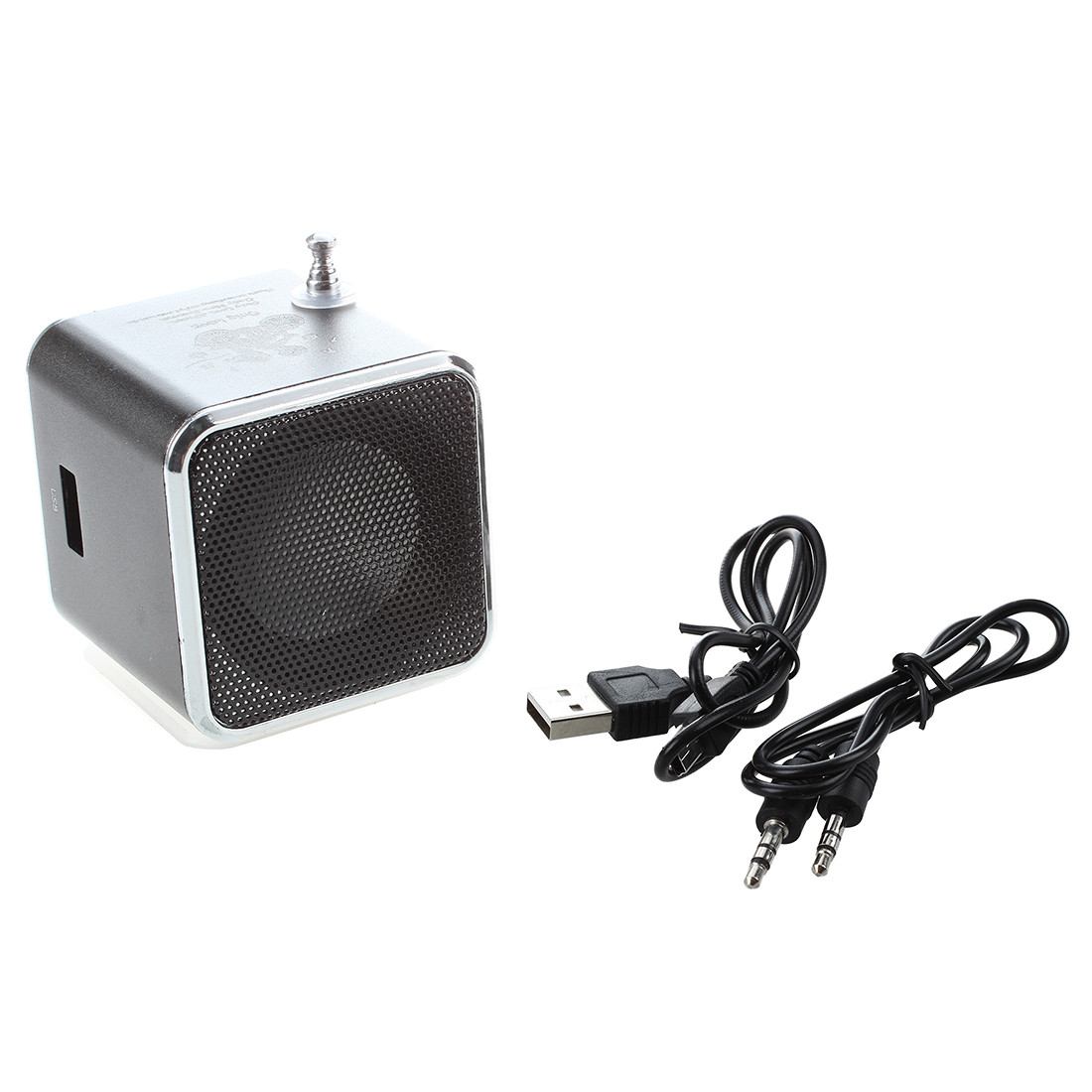 TD-V26 Portable Mini Speaker with Digital and Micro SD / TF / USB / FM - Black ws 980 car model style portable 2 channel rgb light speaker w fm tf black transparent