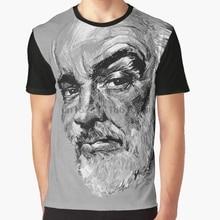 ce768151f All Over Print 3D Women T Shirt Men Funny tshirt Sean Connery Graphic T- Shirt