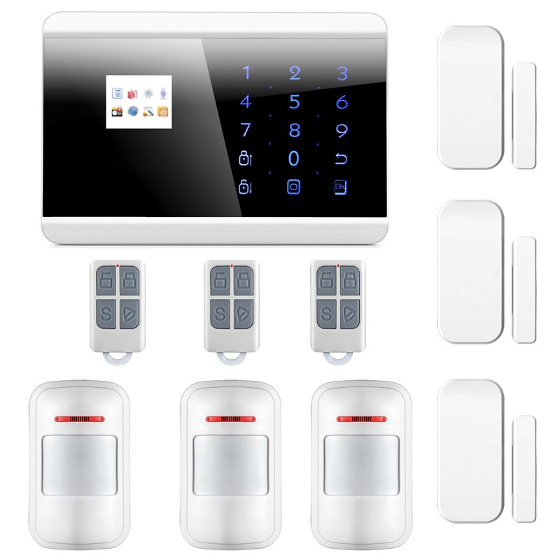 Android/ iOS APP Control Wireless Dual Network GSM PSTN Burglar Alarm System English/Russian/French/Spainish Version free dhl 868mhz wireless pstn wireless alarm system gsm network smart app gsm pstn alarm gsm alarm system 868mhz