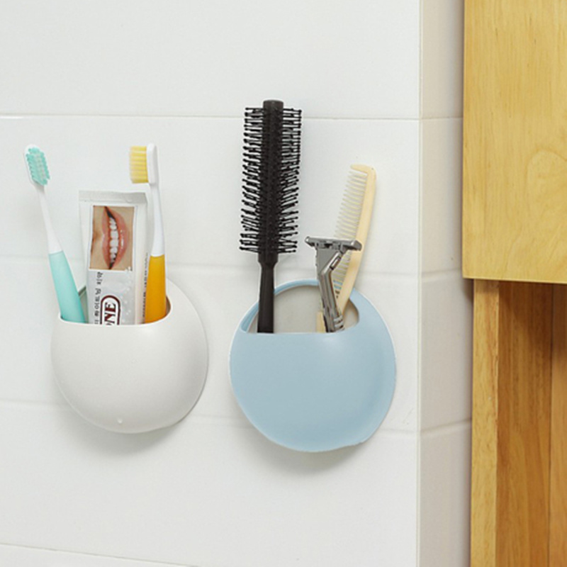 Toothbrush Toothpaste Holder Suction Cup Toothpaste Bathroom Storage Rack Wall M
