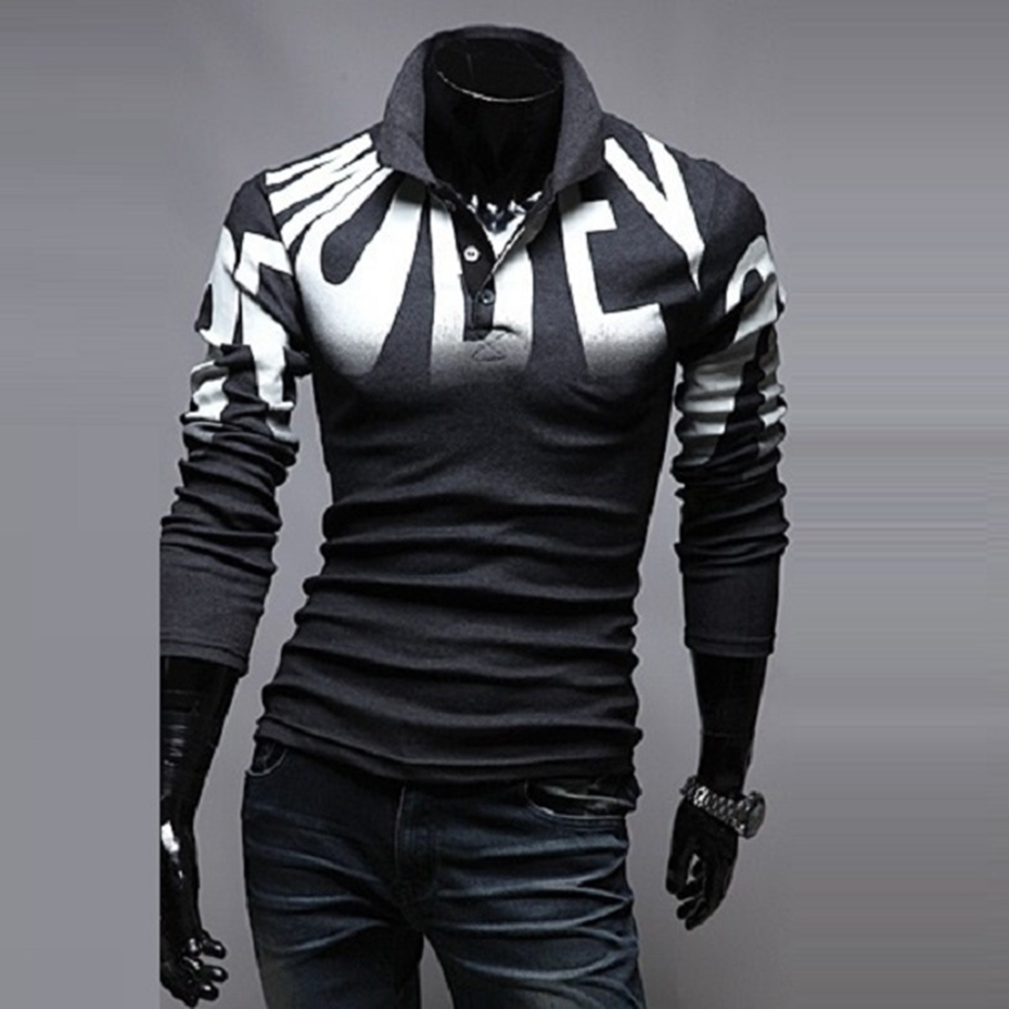 New men's fashion Long sleeved   POLO   Shirt