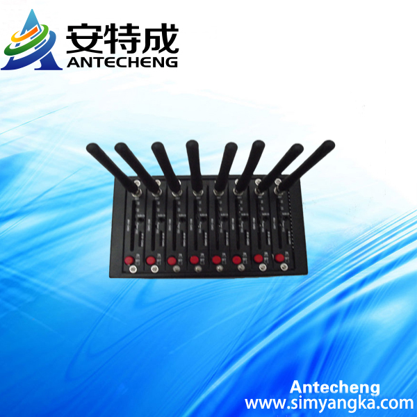 Manufacture supply 8 Ports wireless Q2303 gsm gprs Modem industrial grade