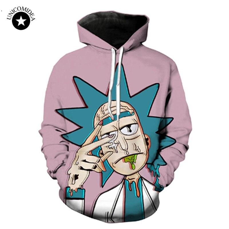 Unicomidea Rick And Morty Cartoon Hoodies 3d Hoody Sweatshirt Men Women Streetwear Psychedelic Tops Hip Hop Casual Pullover 4XL