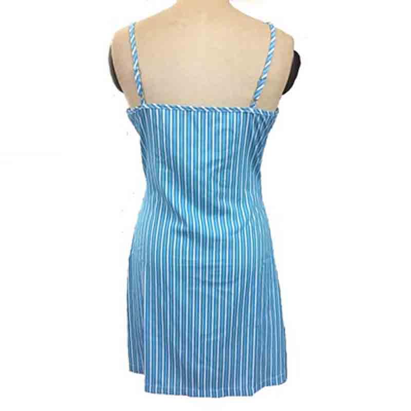 women clothes 2019 blue dress Women 39 s Sexy V neck Printed Stripe Hanging A dress summer korean clothes sexy tops in Dresses from Women 39 s Clothing