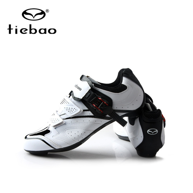 Tiebao Professional Men Cycling Shoes Outdoor Sports Racing Athletic Shoes Breathable Road Bike Bicycle Self-Locking Shoes original li ning men professional basketball shoes